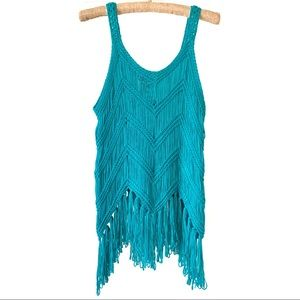 Crochet Fringe Cover Up/Tank Top Festival Swim